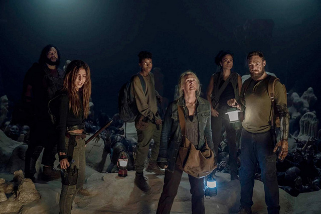 the walking dead - squeeze review - jerry, magna, carol, kelly, connie and aaron