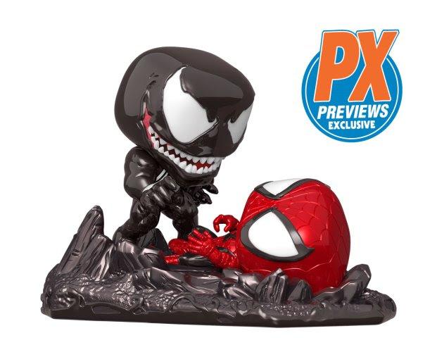 funko pop venom vs spider-man figures