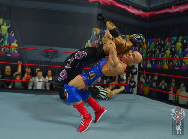 wwe elite 59 kurt angle figure review - belly to back suplex to rey mysterio