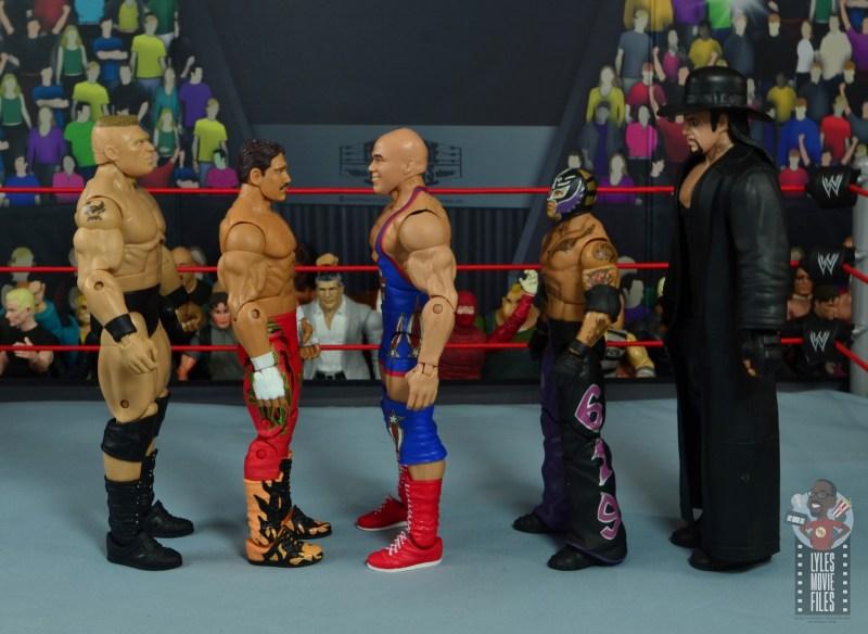 wwe elite 59 kurt angle figure review - facing brock lesnar, eddie guerrero, rey mysterio and the undertaker