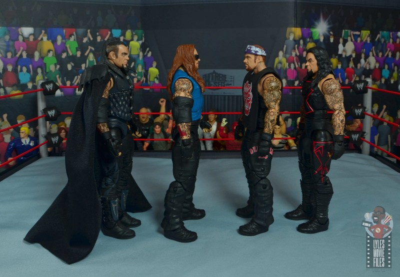 wwe elite 68 american badass undertaker figure review - facing ministry, red devil and unholy alliance undertakers