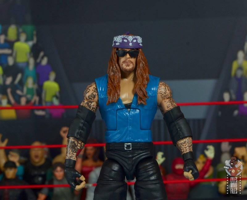 wwe elite 68 american badass undertaker figure review - wearing bandana