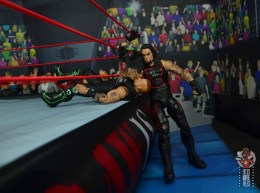 wwe hall of champions undertaker figure review - elbow drop to road dogg on the apron