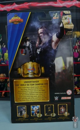wwe hall of champions undertaker figure review - package rear