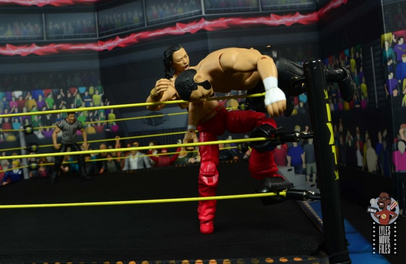 wwe ultimate edition shinsuke nakamura figure review - rolling knee to turnbuckle to samoa joe