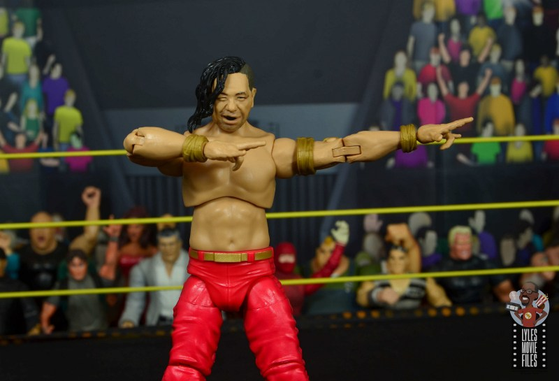 wwe ultimate edition shinsuke nakamura figure review - victory pose