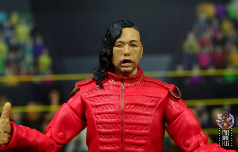 wwe ultimate edition shinsuke nakamura figure review - wild head sculpt close up
