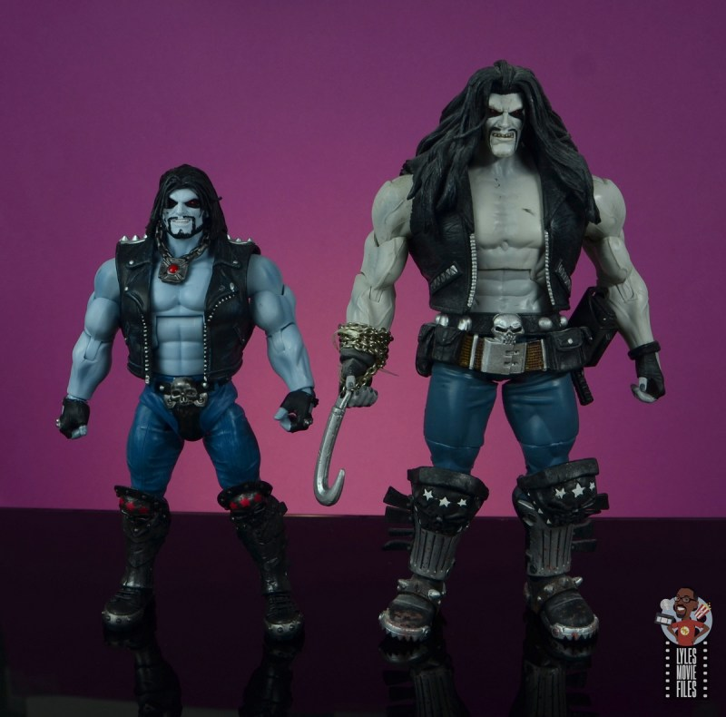 dc multiverse lobo figure review - scale with dc classics mattel