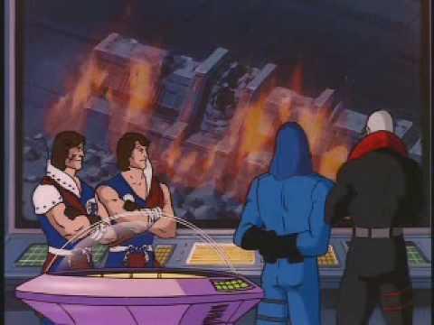 gi joe pyramid of darkness review - crimson twins, cobra commander and destro