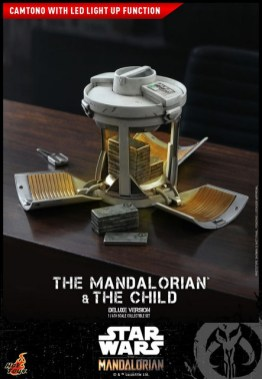 hot toys the mandalorian and the child deluxe figure set - camtono