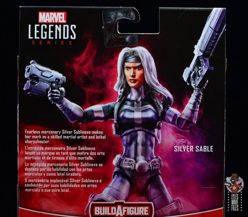 marvel legends silver sable figure review - package bio