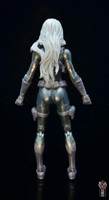 marvel legends silver sable figure review - rear