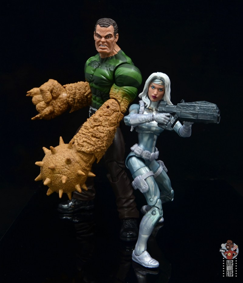 marvel legends silver sable figure review -side by side with spider-man