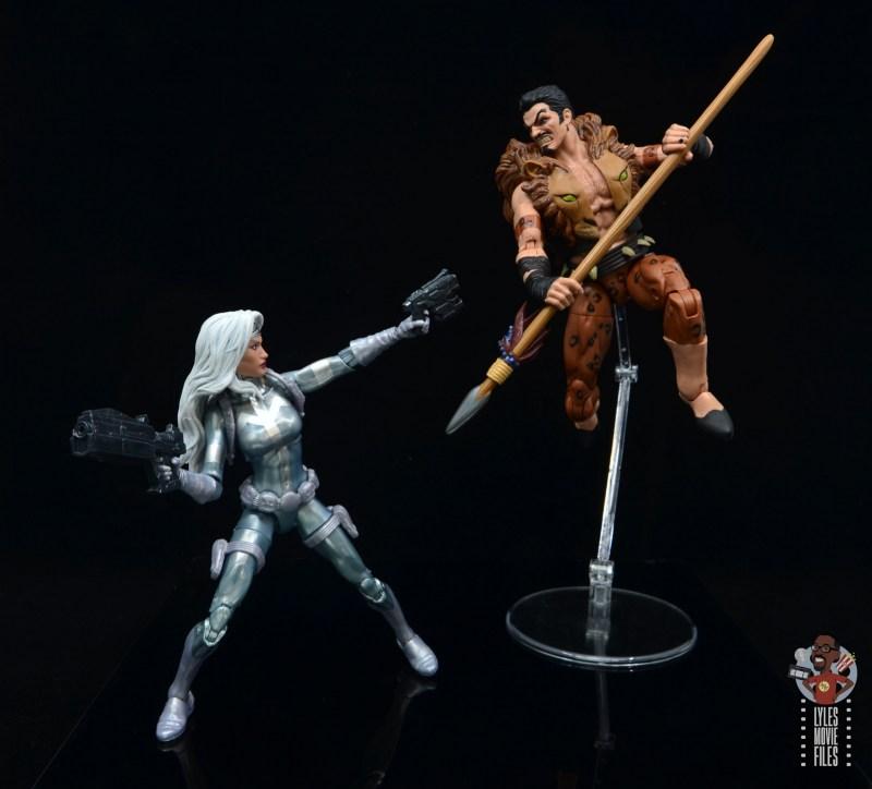 marvel legends silver sable figure review - vs kraven