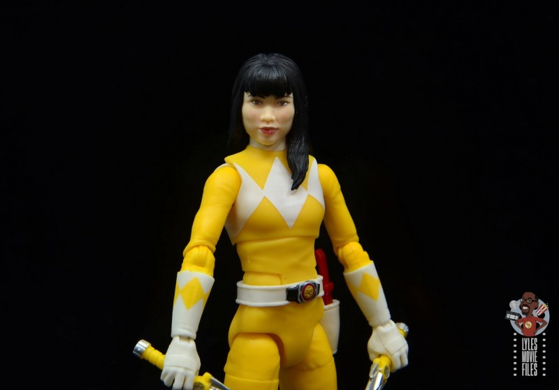 power rangers lightning collection mighy morphin yellow ranger figure review - unmasked trini head