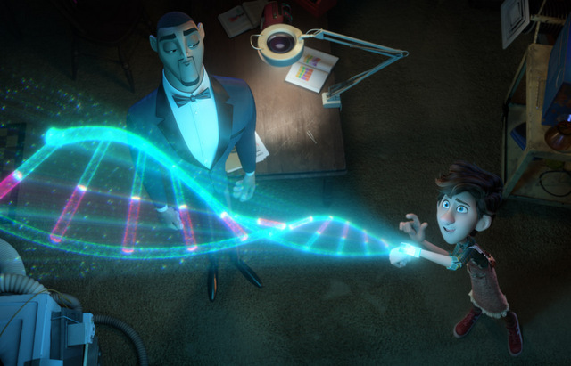 spies-in-disguise-review-walter-showing-off-a-device