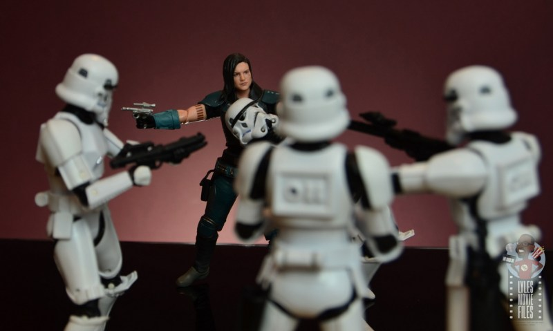 star wars the black series cara dune figure review - face off with stormtrooper