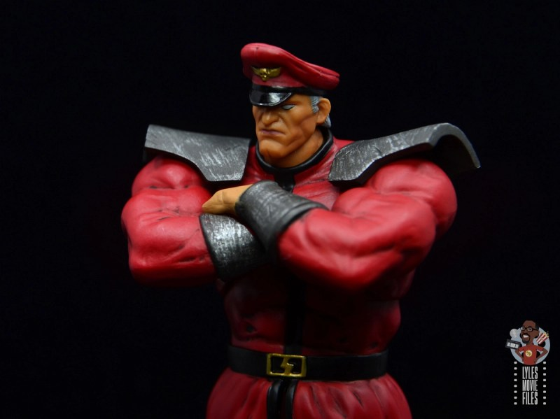 storm collectibles street fighter m. bison figure review - arms crossed