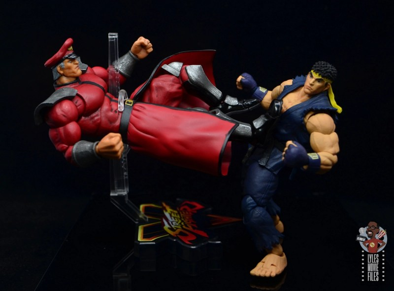 storm collectibles street fighter m. bison figure review - kicking it with ryu
