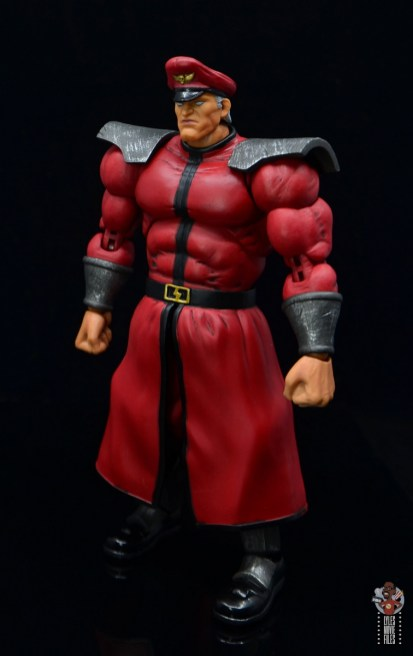 storm collectibles street fighter m. bison figure review - left side