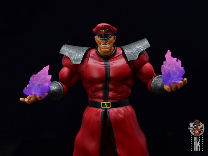 storm collectibles street fighter m. bison figure review - psycho power effects
