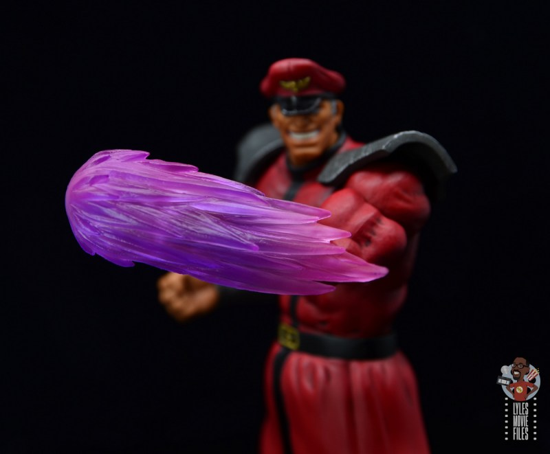 storm collectibles street fighter m. bison figure review - psycho power wave effect