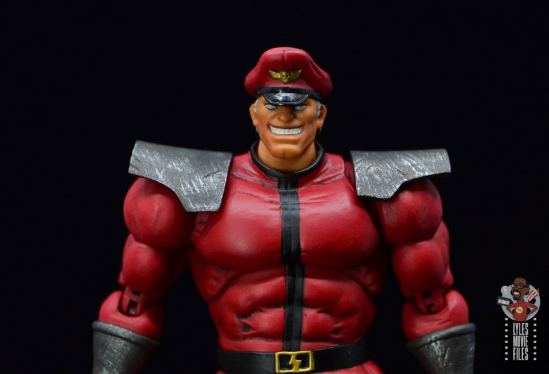 storm collectibles street fighter m. bison figure review - smiling headsculpt