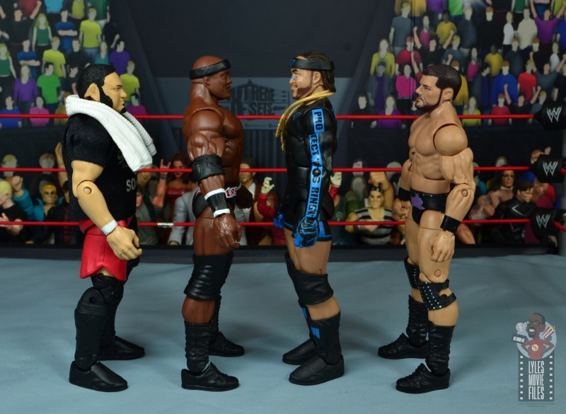 wwe elite 69 bobby lashley figure review - facing samoa joe, mvp and booby roode
