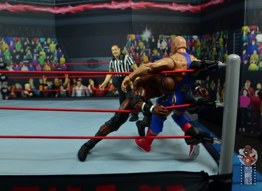 wwe elite 69 bobby lashley figure review - shoulder tackle to kurt angle