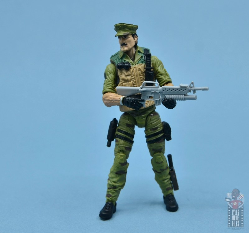 gi joe the eagle's edge figure review set - leatherneck with grenade launcher