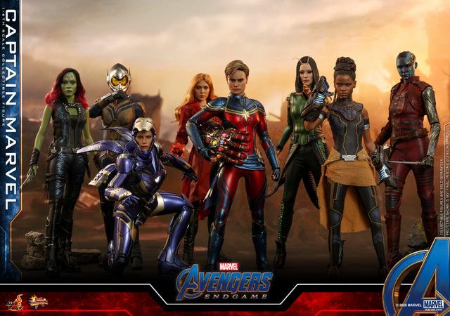 hot toys avengers endgame captain marvel - a-force