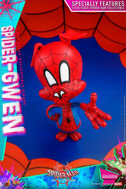 hot toys spider-man into the spider-verse spider-gwen figure - spider-ham