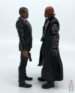 marvel legends captain marvel nick fury figure review - facing avengers nick fury