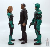 marvel legends captain marvel nick fury figure review - facing captain marvel and yon-rogg
