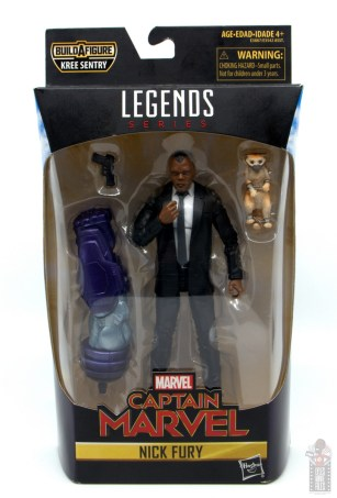 marvel legends captain marvel nick fury figure review - package front