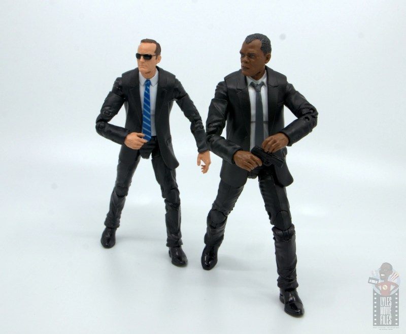 marvel legends captain marvel nick fury figure review - ready for action with agent coulson