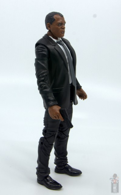 marvel legends captain marvel nick fury figure review - right side