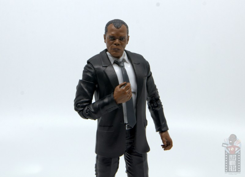 marvel legends captain marvel nick fury figure review - wide shot