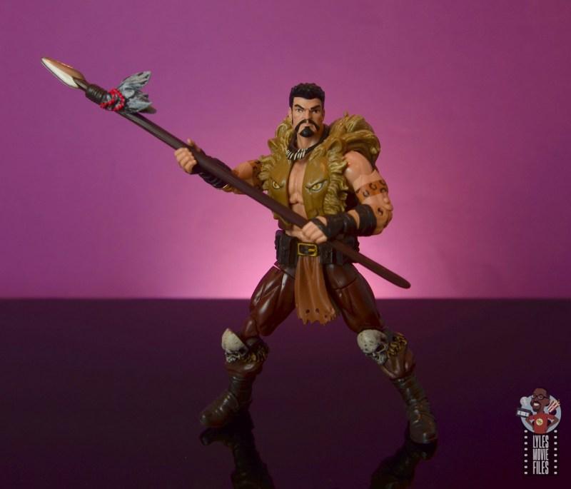marvel legends kraven figure review - carrying spear