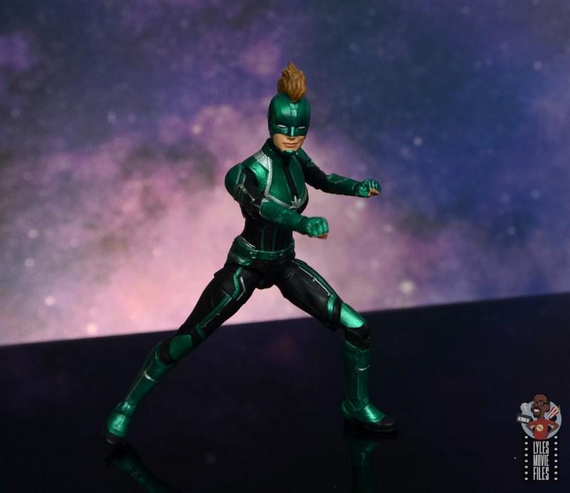 marvel legends starforce captain marvel figure review - battle stance