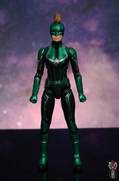 marvel legends starforce captain marvel figure review - front
