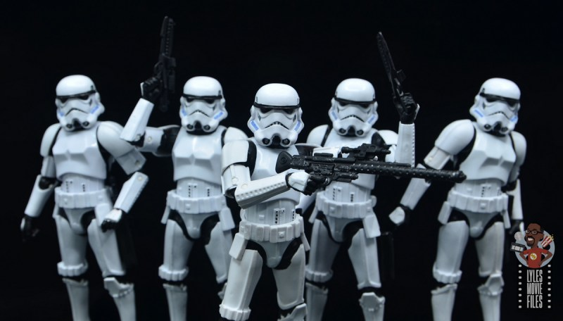 star wars the black series stormtrooper figure review - rifle close up