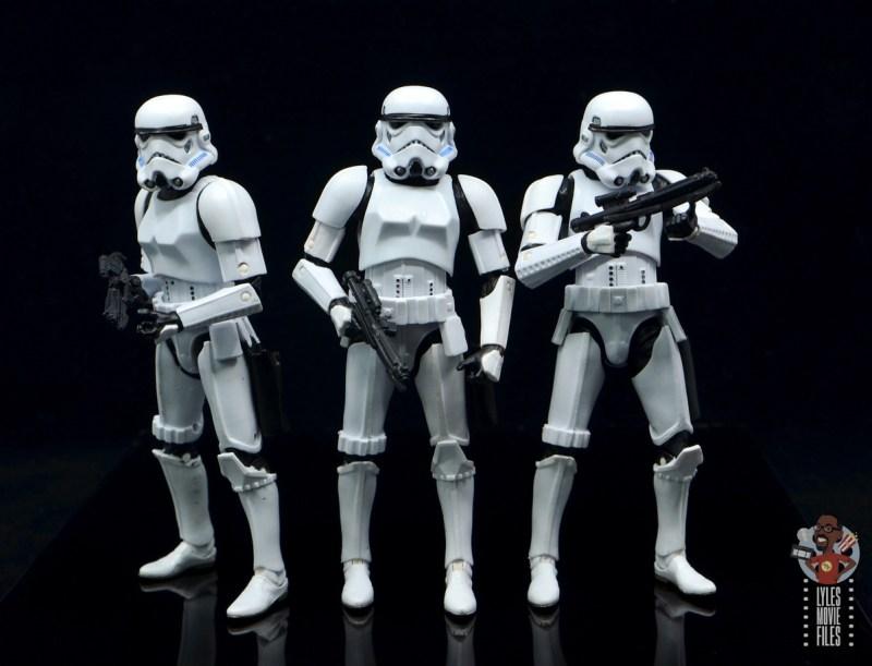 star wars the black series stormtrooper figure review - trio of troopers