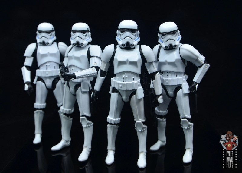 star wars the black series stormtrooper figure review - troopers together