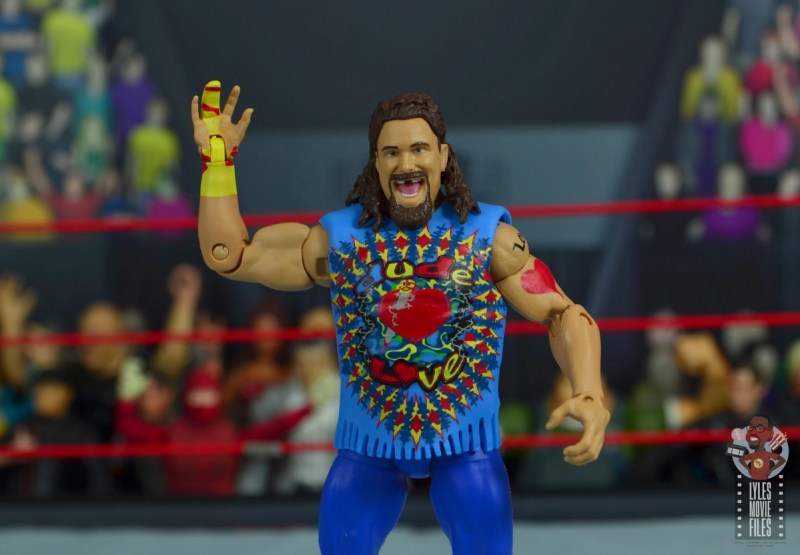 wwe elite #62 dude love figure review - accessories off-001