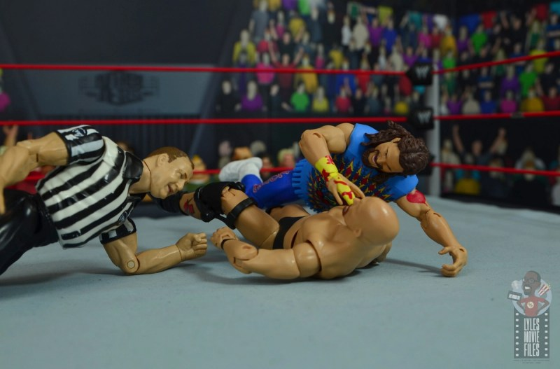 wwe elite #62 dude love figure review - mandible claw to stone cold-001
