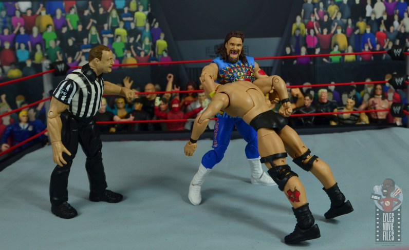 wwe elite #62 dude love figure review - neck swing to stone cold-001