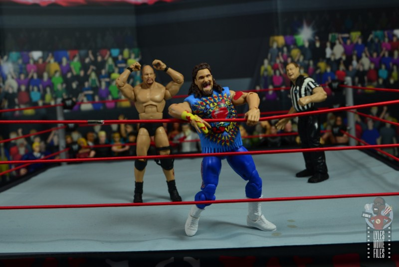 wwe elite #62 dude love figure review - shocking stone cold