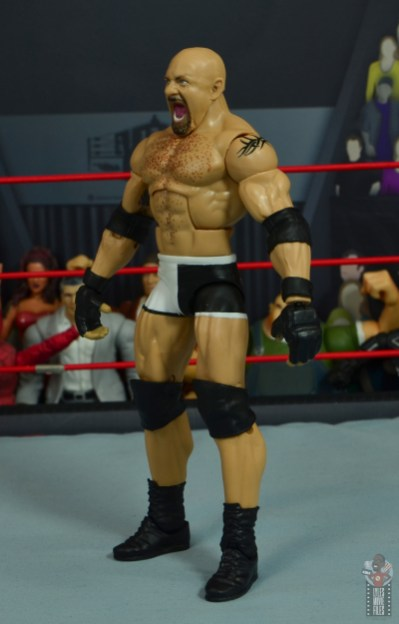 wwe elite #74 goldberg figure review - left side
