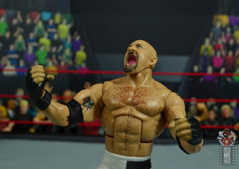 wwe elite #74 goldberg figure review - yelling